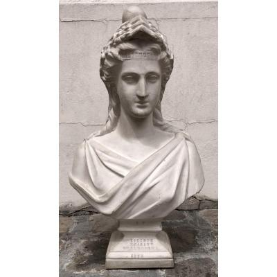 Bust Of Marianne In Plaster