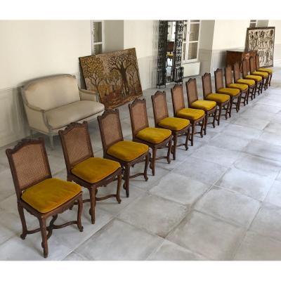 14 Louis XV Chairs