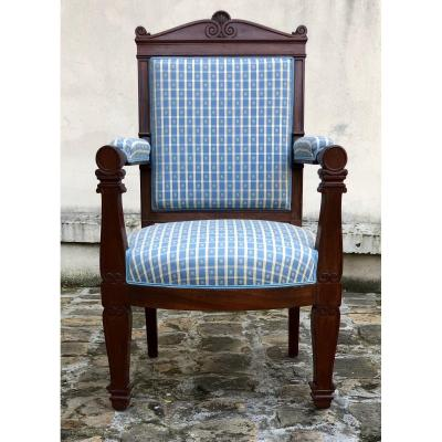 Jacob Stamped Mahogany Armchair