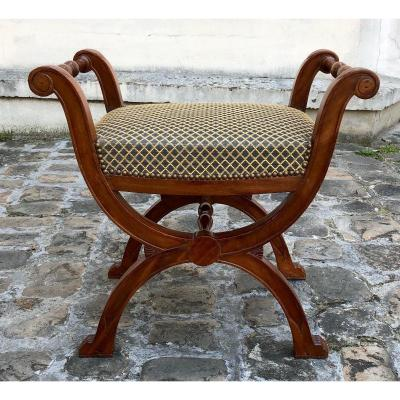Tabouret d'époque Empire estampillé Jacob Desmalter