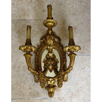 Applique Louis XVI, En Bronze Ciselée Doré