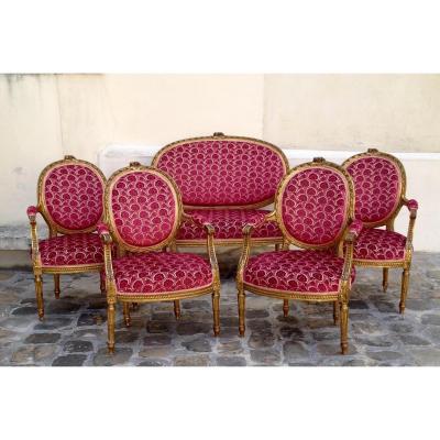 Salon Louis XVI : Fauteuils et canapé