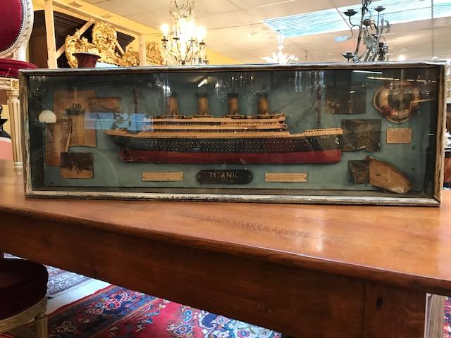 Model Of Titanic Wooden