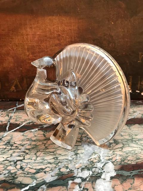 Pigeon Peacock Crystal Daum