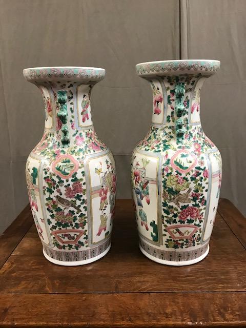 Paire De Vases Chinois 20ème
