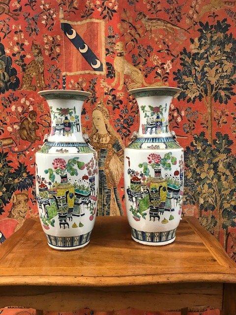 Pair Of Vases 19th
