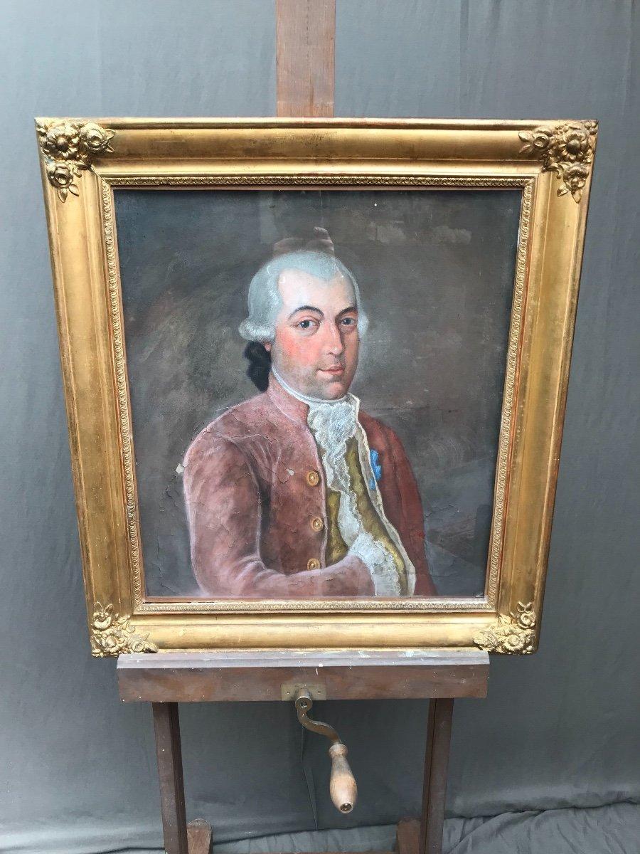Pastel Portrait De Gentilhomme 19eme -photo-1