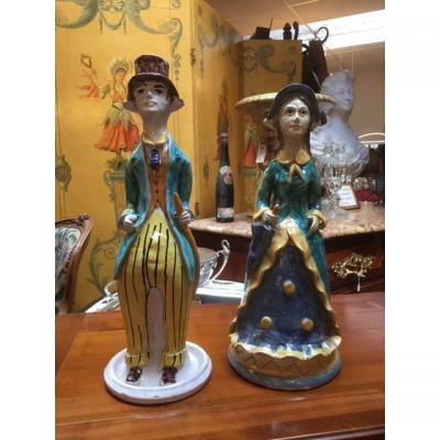 Pair Of Italian Candlestick 19th
