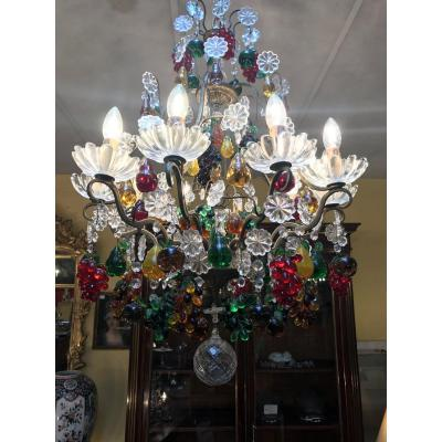 20th Century Crystal Chandelier