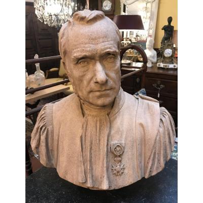 Terracotta Bust E. Godin