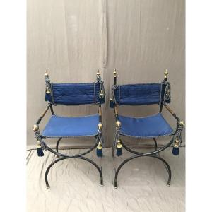 19th Officer Armchairs