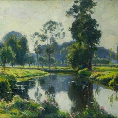 La Senne à Beersel - Louis Clesse (1889-1961)