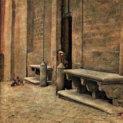Cour d'église à Sienne