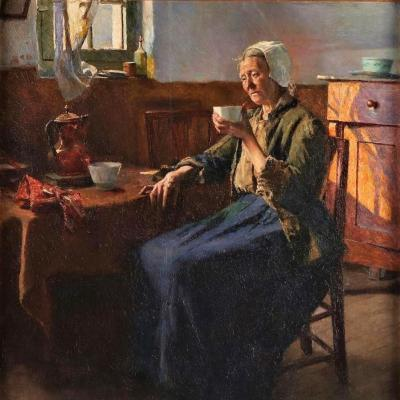 The Old Fisherman Woman By Aloïs Baudry