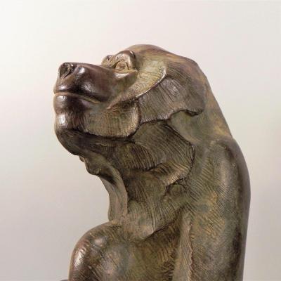 Sitting Baboon - Akop Gurdjan (1881-1948)