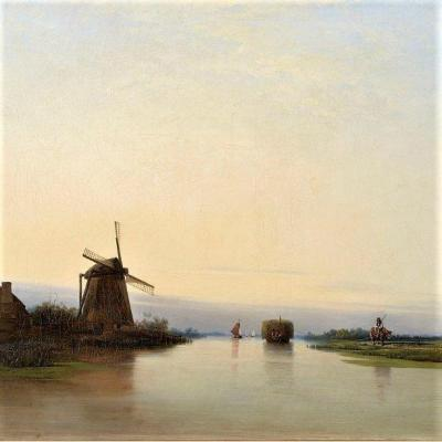 Paysage Fluvial Au Moulin,1839 par Per Wickenberg (1812 - 1846)