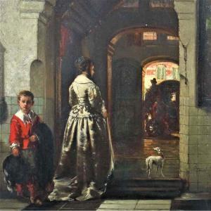 The Farewell By Johannes Stroebel (1821-1905)