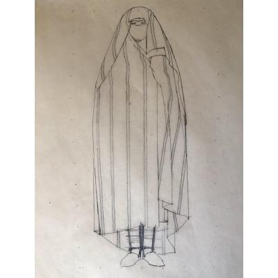 Pencil Drawing By Bernard Boutet De Monvel (1881-1949)