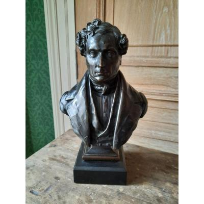 Bust Of Man In Bronze By Ber