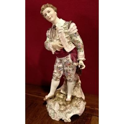 Statuette  Porcelaine  Allemande  Rudolstadt- Volkstedt  Fin XIXème