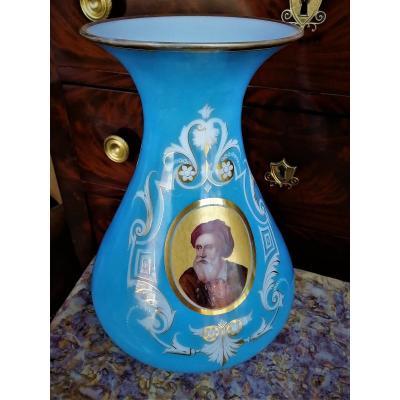 Vase En Opaline Cristal  Epoque Napoléon III