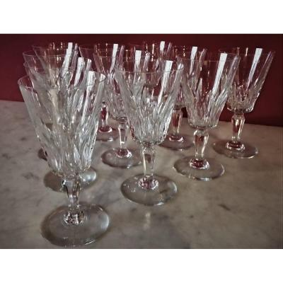 Baccarat Model Carcassonne  11 Water Glasses