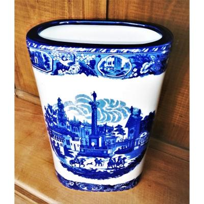 Umbrella  Stand  Blue White  Victoria Ware English Earthenware