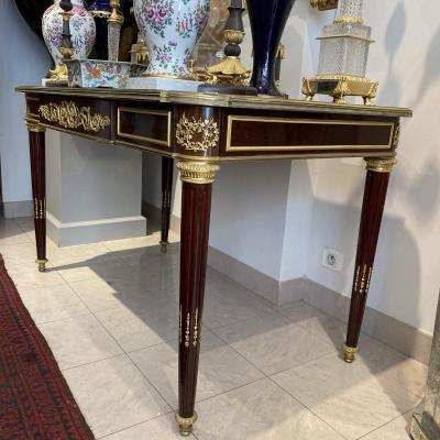 Office Table Louis XVI Style Riesner Model 19th Ieme