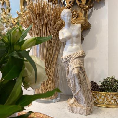 Sculpture De La Venus De Milo En Marbre De Carrare Et Marbre Veiné Fin XIX Ieme