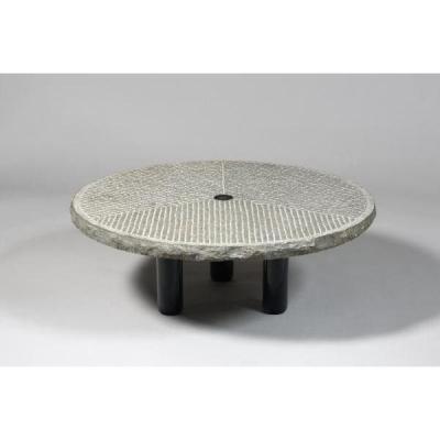 Coffee Table, Round Stone