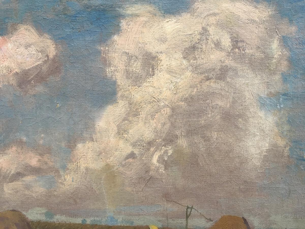 Oil On Canvas Rural Scene