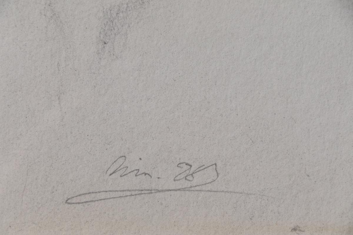 Large Pencil Signed XX Eme-photo-1
