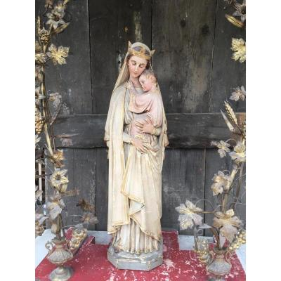 Sainte Vierge à l'Enfant, Décor bronze laiton