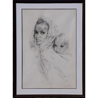 Large Pencil Signed XX Eme