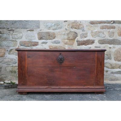 Large XVIIIth Solid Wood Chest