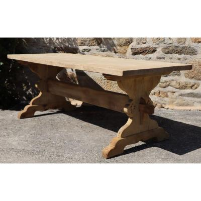 Solid Wood Monastery Table - Fleur De Lys