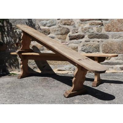 Pair Of Wooden Benches