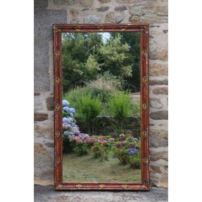 Large Venetian Polychrome Golden Wood Mirror XIX