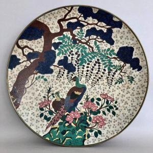 Plat Emaux Cloisonnés Japon époque 19 eme
