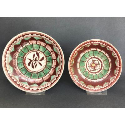 Plats en porcelaine de Chine Asie Bencharong 19 eme