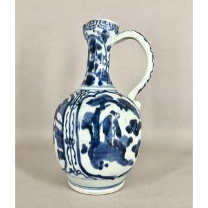 Verseuse En Porcelaine Bleu Et Blanc Arita Japon Fin 17 Eme