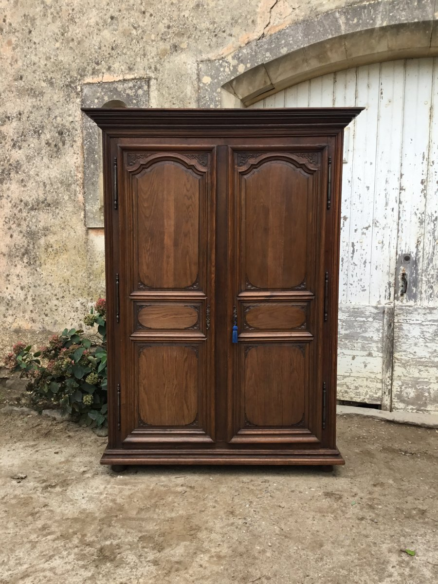 Cabinet Louis XIV Regency In Oak, Nineteenth Time