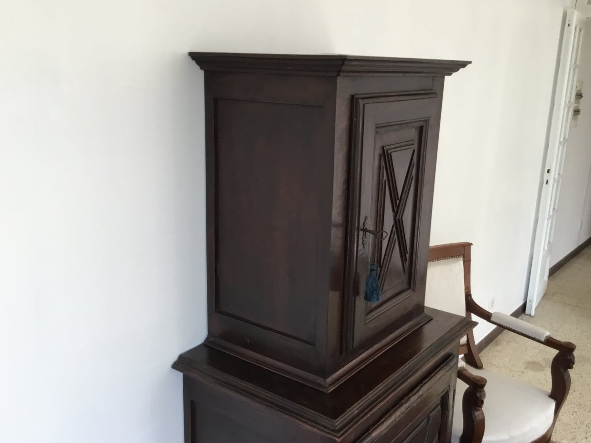 Small Louis XIII Style Cabinet XIXth-photo-1