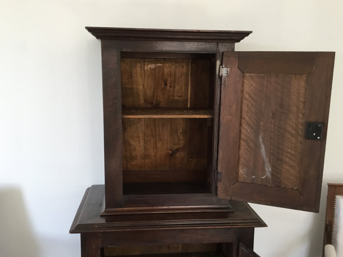 Small Louis XIII Style Cabinet XIXth-photo-5