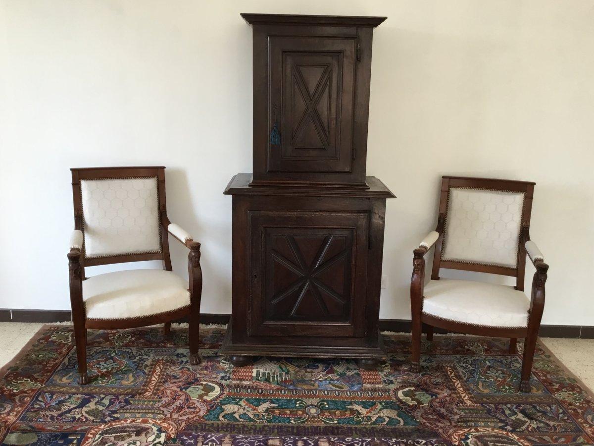 Petit Cabinet De Style Louis XIII XIXé