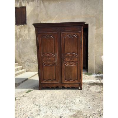Louis XV Cabinet In Oak Eighteenth Time