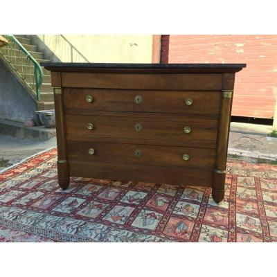 Empire Walnut Commode Nineteenth Time
