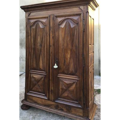 Louis XIII Period Wardrobe In Walnut 17th Time