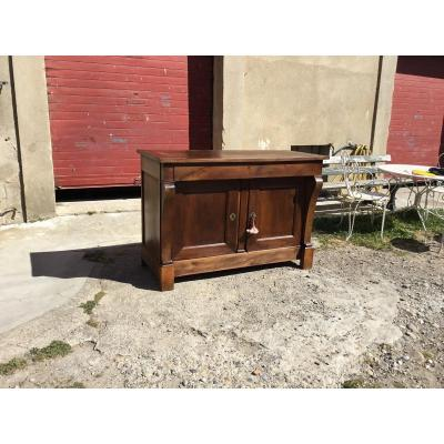 Buffet Two Doors Restoration A Lacrosse In Walnut 19th Century