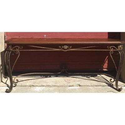 Large Wrought Iron Console 19th Century